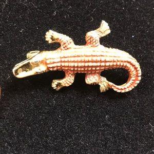 Gerry's Alligator 🐊 brooch Vtg signed